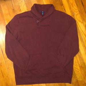 Gap Mock Neck Maroon Sweater, XL